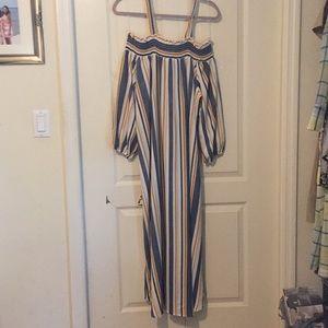 Long sleeve dress with smocking